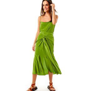 Saia Seda Aninha Verde Coco - 36