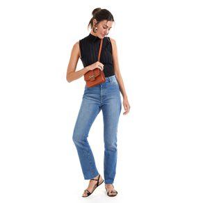 Calça Jeans Seca Detalhe Tigrado Jeans - 36