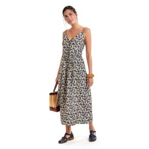 Vestido Estampa Leques Alcinhas Est Leques FundoAzul - 36