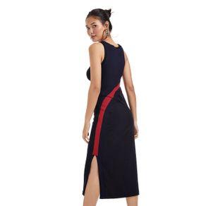 Vestido Midi Detalhe Tricot Preto - P