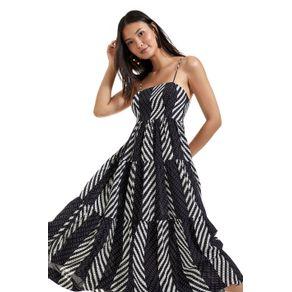Vestido De Seda Listra Diagonal Est Listra Diagonal MixPb - 40